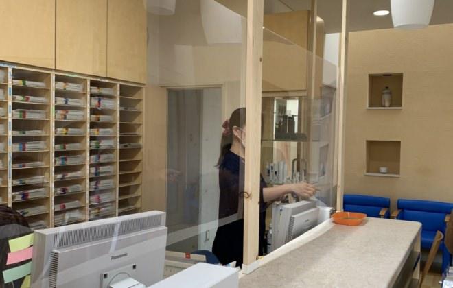 コロナウィルス感染予防対策。院内の取り組みについてのお知らせ。